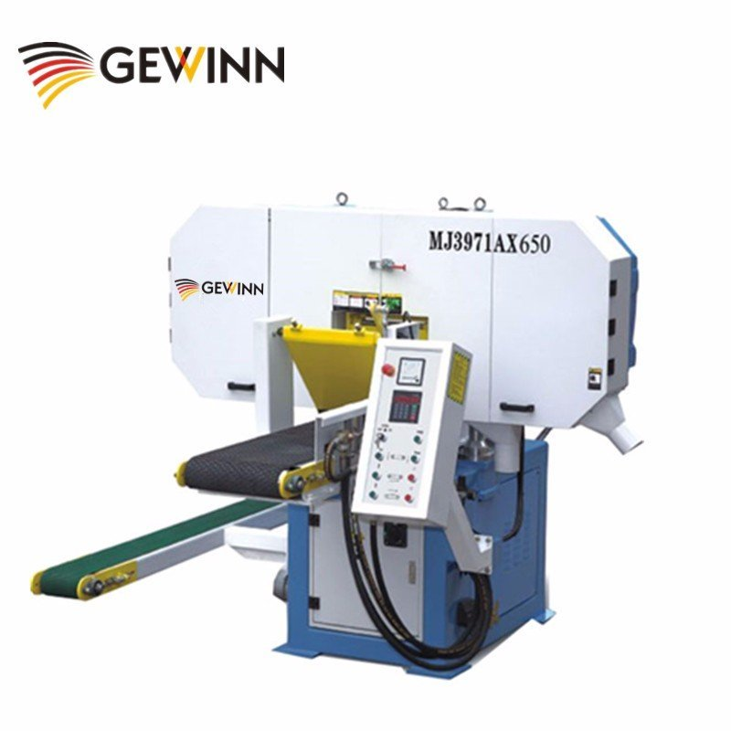 Thin cutting horizontal band saw for square timber MJ3971AX650
