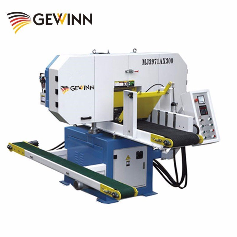 Wood floor manufacturing automatic band saw MJ3971AX300