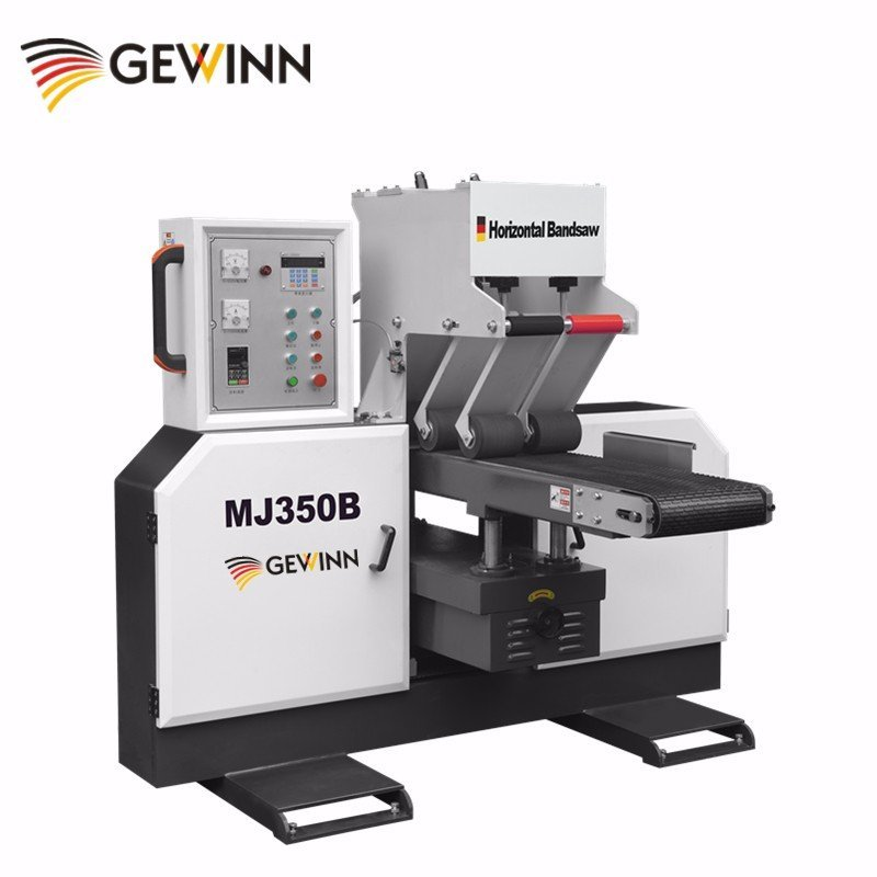 Roller press precise cutting woodworking band saw MJ350B