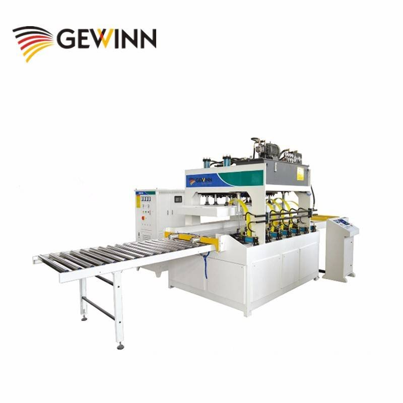 High frequency wood board gluing press